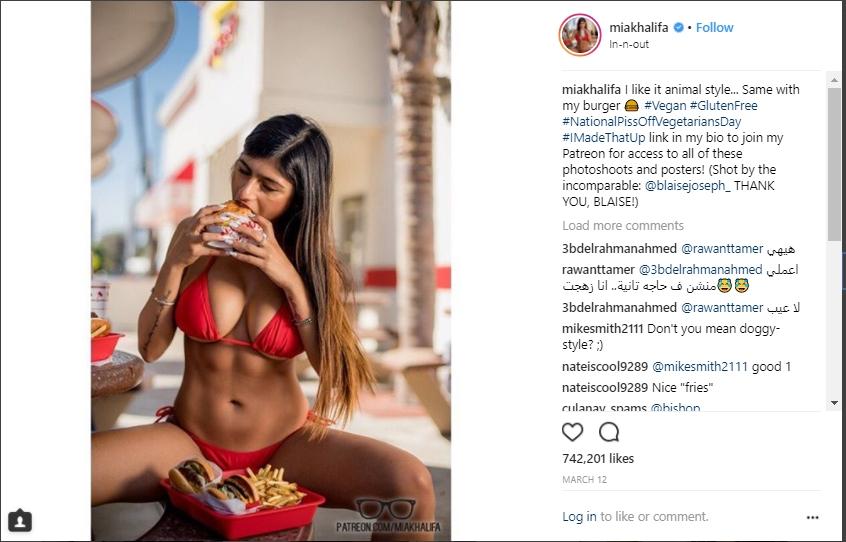 Mia Khalifa Shares Mouth Watering Photographs HollywoodGossip