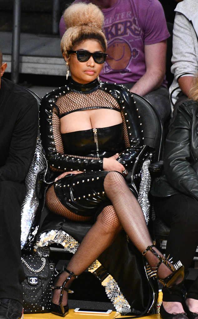 Nicki Minaj Dressed As A Sadomasochist To Attend A Game Of Basketball HollywoodGossip